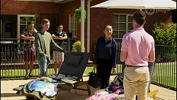 Aaron Brennan, Brent Colefax, David Tanaka, Leila Potts, Curtis Perkins in Neighbours Episode 8581