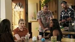Dipi Rebecchi, Mackenzie Hargreaves, Toadie Rebecchi, Yashvi Rebecchi, Shane Rebecchi in Neighbours Episode 8582