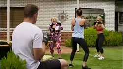 Kyle Canning, Sheila Canning, Bea Nilsson, Roxy Willis in Neighbours Episode 8582