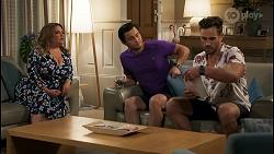 Terese Willis, David Tanaka, Aaron Brennan in Neighbours Episode 8584