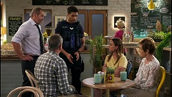 Toadie Rebecchi, Karl Kennedy, Levi Canning, Bea Nilsson, Susan Kennedy in Neighbours Episode 8584