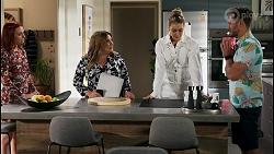 Nicolette Stone, Terese Willis, Chloe Brennan, Aaron Brennan in Neighbours Episode 8584