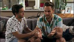David Tanaka, Aaron Brennan in Neighbours Episode 8585