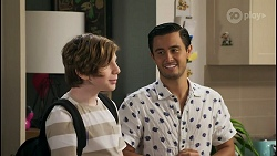 Emmett Donaldson, David Tanaka in Neighbours Episode 8585