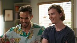 Aaron Brennan, Brent Colefax in Neighbours Episode 8585