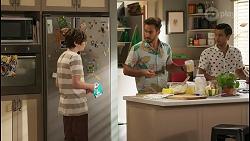 Emmett Donaldson, Aaron Brennan, David Tanaka in Neighbours Episode 8585