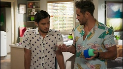 David Tanaka, Aaron Brennan in Neighbours Episode 8586