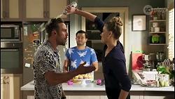 Aaron Brennan, David Tanaka, Chloe Brennan in Neighbours Episode 8586