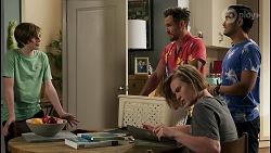 Emmett Donaldson, Aaron Brennan, Brent Colefax, David Tanaka in Neighbours Episode 8586