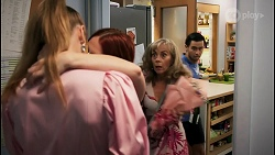 Chloe Brennan, Nicolette Stone, Jane Harris, David Tanaka in Neighbours Episode 8587