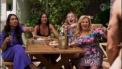 Dipi Rebecchi, Yashvi Rebecchi, Mackenzie Hargreaves, Sheila Canning, Rudy Johnson in Neighbours Episode 8588