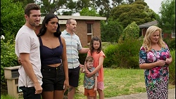 Ned Willis, Yashvi Rebecchi, Toadie Rebecchi, Hugo Somers, Nell Rebecchi, Sheila Canning in Neighbours Episode 8589