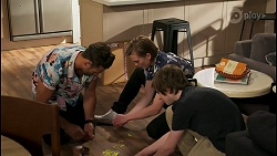 Aaron Brennan, Brent Colefax, Emmett Donaldson in Neighbours Episode 8591