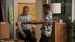 Paul Robinson, Aaron Brennan in Neighbours Episode 8591