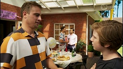 Kyle Canning, Aaron Brennan, David Tanaka, Emmett Donaldson in Neighbours Episode 8591