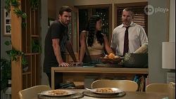 Ned Willis, Yashvi Rebecchi, Toadie Rebecchi in Neighbours Episode 8592