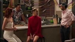 Nicolette Stone, Aaron Brennan, Chloe Brennan, David Tanaka in Neighbours Episode 8592