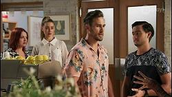 Nicolette Stone, Chloe Brennan, Aaron Brennan, David Tanaka in Neighbours Episode 8592