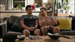 David Tanaka, Aaron Brennan in Neighbours Episode 8592