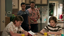 Brent Colefax, David Tanaka, Aaron Brennan, Emmett Donaldson in Neighbours Episode 8592
