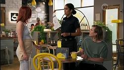 Nicolette Stone, Yashvi Rebecchi, Brent Colefax in Neighbours Episode 8597