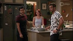 David Tanaka, Nicolette Stone, Aaron Brennan in Neighbours Episode 8597