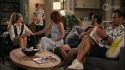 Chloe Brennan, Emmett Donaldson, Nicolette Stone, David Tanaka, Aaron Brennan in Neighbours Episode 8597