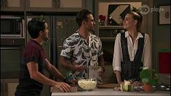 David Tanaka, Aaron Brennan, Chloe Brennan in Neighbours Episode 8598