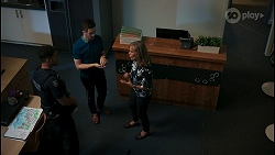 Levi Canning, Curtis Perkins, Jane Harris in Neighbours Episode 8598
