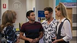 Jane Harris, David Tanaka, Aaron Brennan, Chloe Brennan in Neighbours Episode 8598