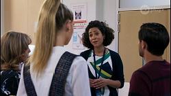 Jane Harris, Chloe Brennan, Dr Stevie Hart, David Tanaka in Neighbours Episode 8598