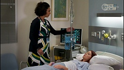 Dr Stevie Hart, Nicolette Stone in Neighbours Episode 8598