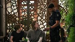 Emmett Donaldson, Brent Colefax, Levi Canning in Neighbours Episode 8598