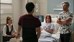 Chloe Brennan, David Tanaka, Nicolette Stone, Aaron Brennan in Neighbours Episode 8598