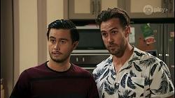 David Tanaka, Aaron Brennan in Neighbours Episode 8598