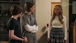 Emmett Donaldson, Brent Colefax, Harlow Robinson in Neighbours Episode 8598