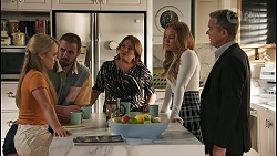 Roxy Willis, Kyle Canning, Terese Willis, Harlow Robinson, Paul Robinson in Neighbours Episode 8599