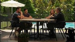 Aaron Brennan, David Tanaka, Terese Willis, Paul Robinson in Neighbours Episode 8599