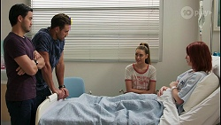 David Tanaka, Aaron Brennan, Chloe Brennan, Nicolette Stone in Neighbours Episode 8599