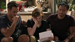 Aaron Brennan, Emmett Donaldson, David Tanaka in Neighbours Episode 8599