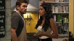 Ned Willis, Yashvi Rebecchi in Neighbours Episode 8601