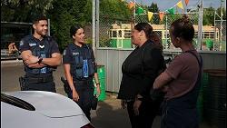 Levi Canning, Yashvi Rebecchi, Sheila Canning 2, Bea Nilsson in Neighbours Episode 8601