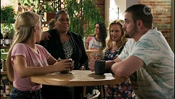 Roxy Willis, Sheila Canning 2, Sheila Canning, Kyle Canning in Neighbours Episode 8602