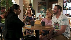 Sheila Canning 2, Sheila Canning, Roxy Willis, Kyle Canning in Neighbours Episode 8602