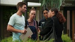 Ned Willis, Bea Nilsson, Yashvi Rebecchi, Sheila Canning 2 in Neighbours Episode 8602