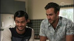 David Tanaka, Aaron Brennan in Neighbours Episode 8603
