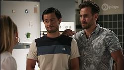 Chloe Brennan, David Tanaka, Aaron Brennan in Neighbours Episode 8603
