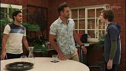 David Tanaka, Aaron Brennan, Emmett Donaldson in Neighbours Episode 8603