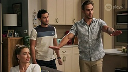 Chloe Brennan, David Tanaka, Aaron Brennan in Neighbours Episode 8604