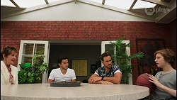 Susan Kennedy, David Tanaka, Aaron Brennan, Emmett Donaldson in Neighbours Episode 8604